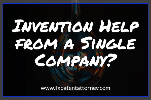 invention help from a single company