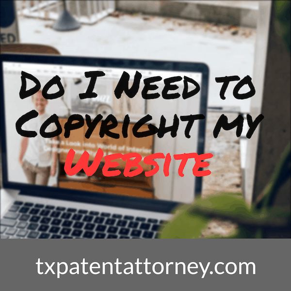 Do i need to copyright my website